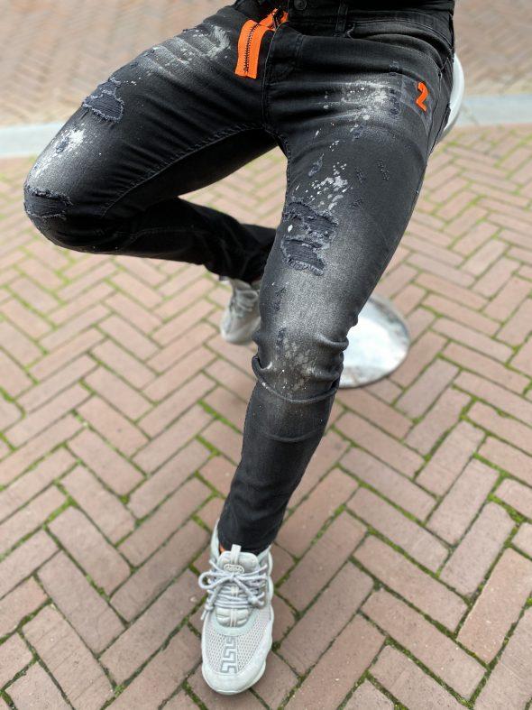 icon2 orange zipper jeans